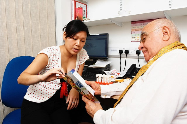 woman having a check up with the doctor